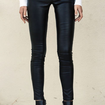 Spray On Vegan Leather Pant