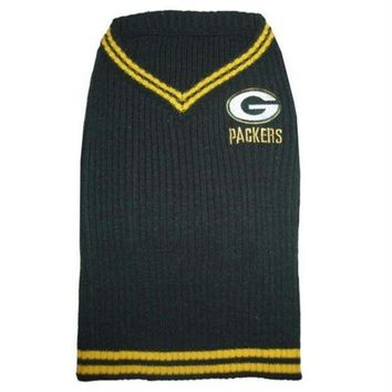 ESBYW9 Green Bay Packers Dog Sweater