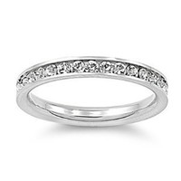 316L Stainless Steel Eternity CZ Wedding Band Ring 3mm Sz 3-10; Comes With FREE Gift Box