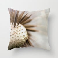 Dandelion Pillow Cover - Throw Pillow Cover - Cover Only - Dandelion Photography - Sofa Pillow - Bed Throw Pillow - Made to Order