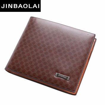 Small Men Wallets Fresh Fashion Designer's Purse Male Brand Striped Card Purse Men Male Leather Wallet