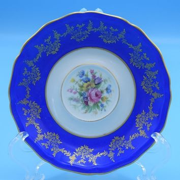 Johann Haviland Bavaria Germany Saucer Vintage Cobalt Blue Gilded Floral Saucer Replacements Numbered Wedding Decor Gift for Her