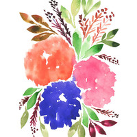 """hand painted flowers_1C"" - Painting Art Print by aticnomar."
