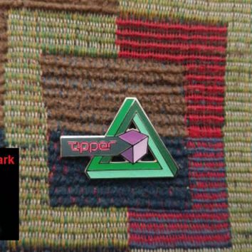 EDM DJ Bass Music Dubstep Impossible Geometry Triangle Glow in the Dark Hat Pin