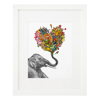 THE HAPPY ELEPHANT - ZLATKA PANEVA | elephant art | UncommonGoods