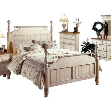 1172 Wilshire Bed - King, Rails, Nightstand, Dresser, Mirror, and Chest - Free Shipping!