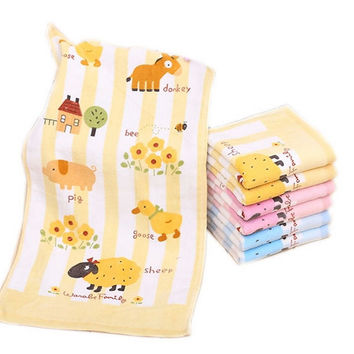 Cute Animal Washclothes For Baby, Happy Farm, 3 Packs