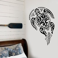 Vinyl Decal Turtle Ocean Sea Marine Tribal Decor Bathroom Wall Stickers Unique Gift (ig2729)