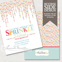 Sprinkle Invitation / Birthday Party - Printable Invite