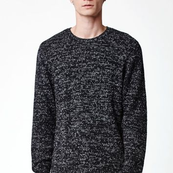 Modern Amusement Marled Cable Knit Sweater - Mens Sweater - Black