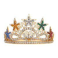 Gucci Crystal stars crown in metal