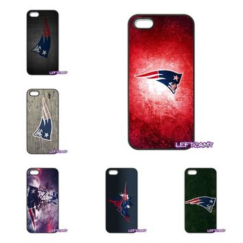 New England Patriots Logo Hard Phone Case Cover For iPhone 4 4S 5 5C SE 6 6S 7 8 Plus X 4.7 5.5 iPod Touch 4 5 6
