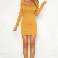 To And From Dress Mustard