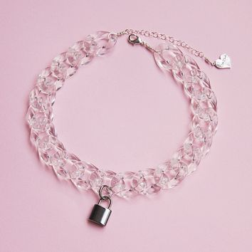 Crystal Clear Lock Choker