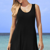 Black Sleeveless Beach Dress