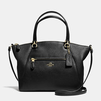 Polished Pebbled Lthr Prairie Satchel