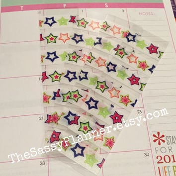 FREE SHIPPING B3 Star Washi stickers for Erin Condren Life Planner/Plum Paper Planner