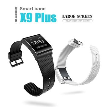 X9 Plus Smart Wristband Touch Screen Heart Rate Monitor Blood Pressure Oxygen Monitor Smartband Smart Band Bracelet for Android
