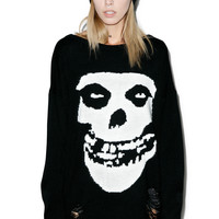 Iron Fist Misfits Torn Sweater Black