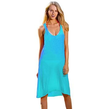 Ingear Racerback Summer Beach Casual rayon Short Dress Cover Up