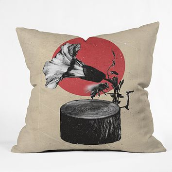 Ali Gulec Gramophone Throw Pillow