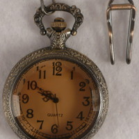 Pocket Watch 03 Pendant on an Antique Chain with hook
