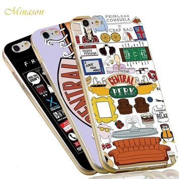 Minason 2017 HOT Sale Soft TPU Cell Phone Cover for Apple iPhone X 8 6 6S 7 Plus 5 SE 5S 5C 4 4S Friends TV Show Silicone Case
