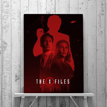 X Files Print, X - Files art, Fox Mulder, Dana Scully, Smoking man,  The truth is out there, Wall art Print