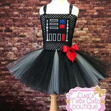 Darth Vader Inspired Tutu Dress. Star Wars Tutu Dress. Party Dress. Comic Con. Halloween.