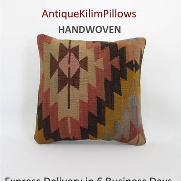 kilim pillow cover cushions oriental pillow case throw pillow urban kilim pillow kilim rug decorative pillow case ethnic pillow cover 000511