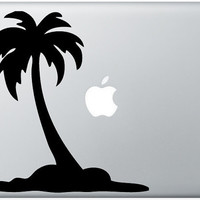 Palm Tree with apple moon laptop DECAL macbook iPad by EyvalDecal
