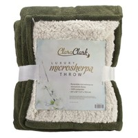 MicroMink Luxurious Soft Blanket Throw, Green