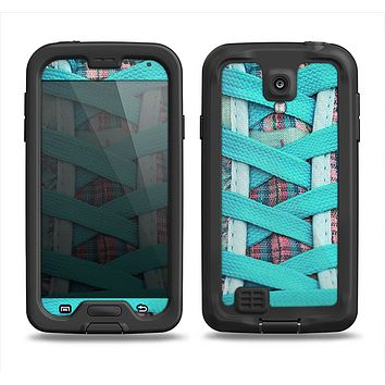 The Turquoise Laced Shoe Samsung Galaxy S4 LifeProof Fre Case Skin Set
