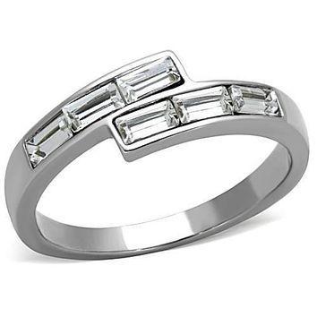 WildKlass Stainless Steel Promise Ring High Polished (no Plating) Women Top Grade Crystal Clear