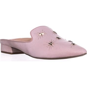 Franco Sarto Samanta Studded Backless Loafers, Pink, 8.5 US / 38.5 EU