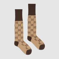 GUCCI Fashion GG pattern cotton blend socks G I