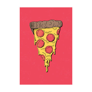Pizza Party Adhesive Art Print