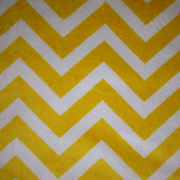 Decorative Body Pillow Cover- Free US Shipping - 18 1/2 X 50  inch MINKY fabric in Yellow and White Zigzag/Chevron