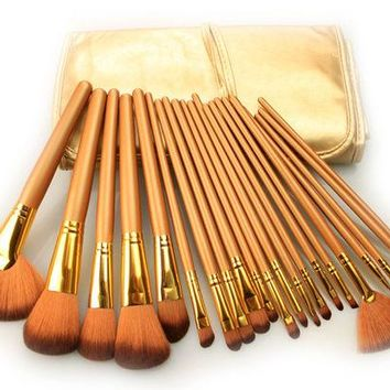 DCCKJ6E 21Pcs Luxury Gold Makeup Brush Sets [9647069903]