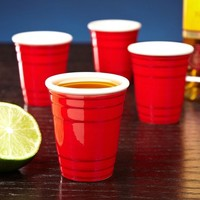 Mini Red Party Cup Shot Glass Set of 4