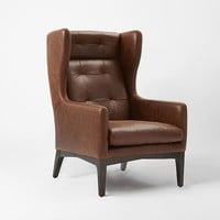 James Harrison Wing Chair - Leather