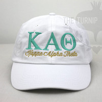 Kappa Alpha Theta Sorority Baseball Cap - Custom Color Hat and Embroidery.