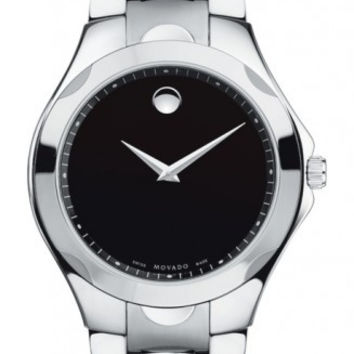 Movado Luno Sport Men's Stainless Steel Black Museum Dial Watch 0606378