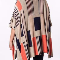 Graphic Design Knit Kimono Cardigan-Plus Size-Umgee