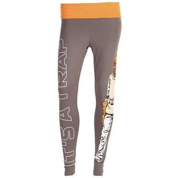 Star Wars It's A Trap Admiral Ackbar Official Licensed Women's Yoga Pants - Gray