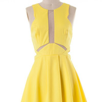 Hope You Dance Dress: Yellow