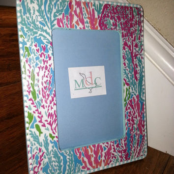 Lilly Pulitzer LET'S CHA CHA Print Picture Frame by Mama Duck Creations