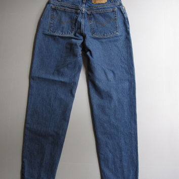 Vtg Levis 550 High Waist Relaxed Tapered 10 Mom Jeans 27 x 31 Blue Denim