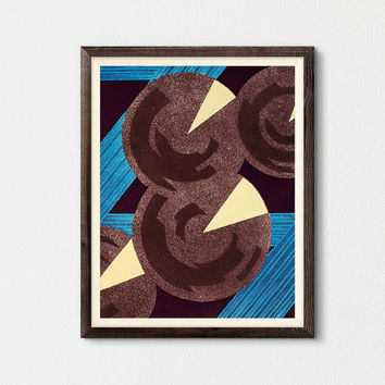 Geometric Abstract Art Printable, Gallery Wall, Living Room Wall Art, Mid Century Modern Art, Kids Room Decor, Vintage Art, Contemporary Art