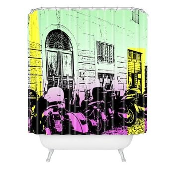 Bikes in Italy shower curtain